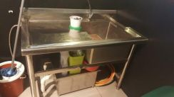 Sink with table