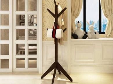 Sturdy Wooden Pole Multipurpose Rack