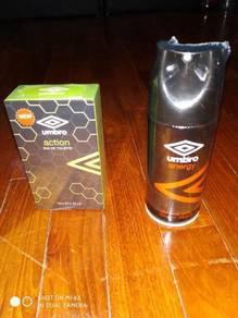 Umbro Brand Body Spray and Deodorant