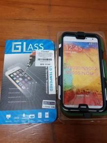 Samsung Note 3 screen protector & heavyduty casing
