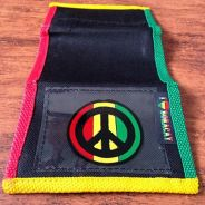 Peace Sign Rasta Wallet
