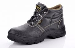 Black rubber safety shoes