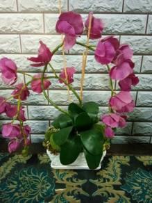 Orkid latex hiasan