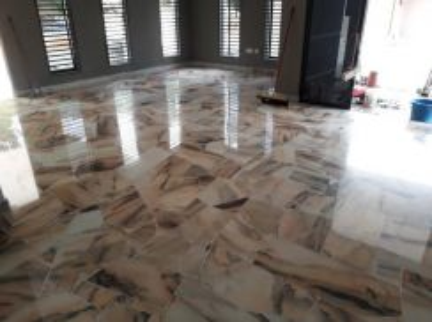 Terazzo & marble floor parquet varnish