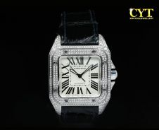 Cartier santos 100 xl afterset diamond