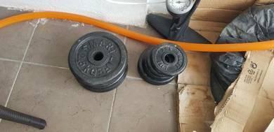 Dumbell dan Barbell 35kg Murah