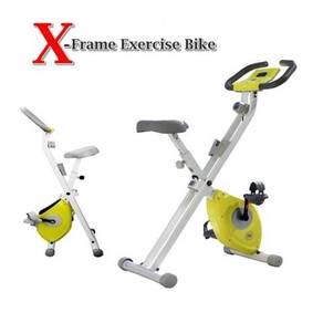 Green super x-frame exercise bike 766