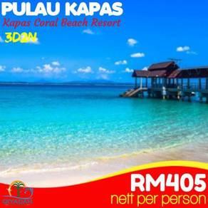 Pulau kapas (kapas coral beach resort) 3d 2n