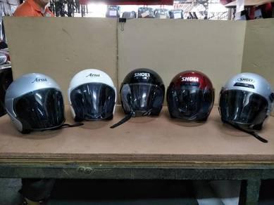 Helmet Arai & Shoei open face