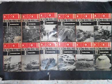 CHURCHILL THE SECOND WORLD WAR BOOK Set