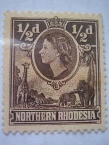 1953 Northern Rhodesia 1/2d Q.E II Stamp - MNH