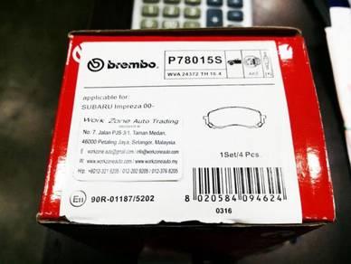 P78015S Brembo Front Brake Pad Subaru Impreza 1.6