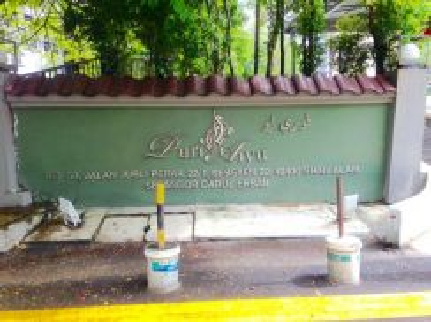PURI AIYU CONDOMINIUM - Sek. 22, Shah Alam-Sebelah Federal Highway