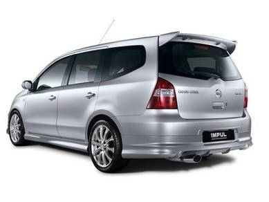 Nissan livina impul spoiler with paint bodykit