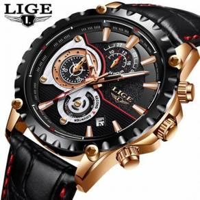 LIGE Mens Watches Top Brand Luxury Quartz Watch