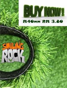 Luxury Artificial Grass M Shape Yarn 40mm