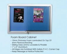 4X6 Sliding Glass Notice Board Cabinet