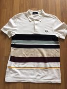 FRED PERRY striped polo size M