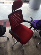 Chili Red Breathable Mesh Backrest Chair
