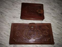 Vintage wallet leather 90an