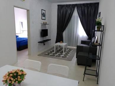 LOWER FLOOR Makmur Apartment Bandar Sunway_FULLY FURNISHED_850sf 3R2B