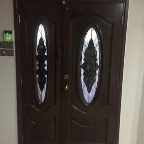 Main entrance wood door