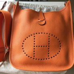Brand New Hermes Evelyne PM 29 Orange Clemence
