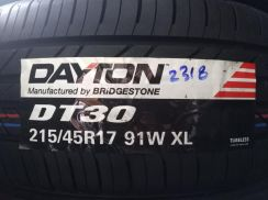 215/45/17 Dayton DT30 Tyre Tahun 2018 Tayar