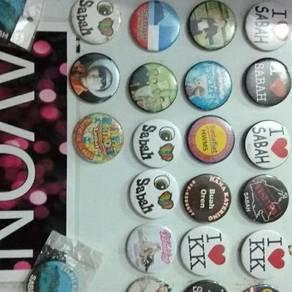 Button badge, fridge magnet, key chain customade