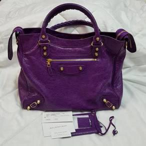 Balenciaga Puruple Velo Gold Hardware Bag
