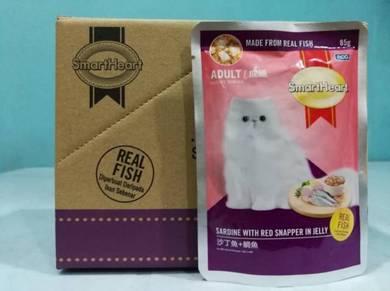 SmartHeart Pouch Adult Wet Cat Food 85g Sardine RJ