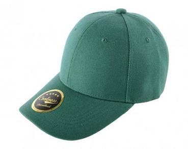 Cap plain forest green colour