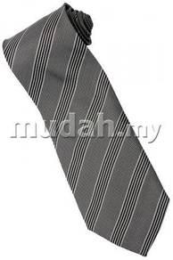 ES2 Silver Quality Striped Formal Neck Tie