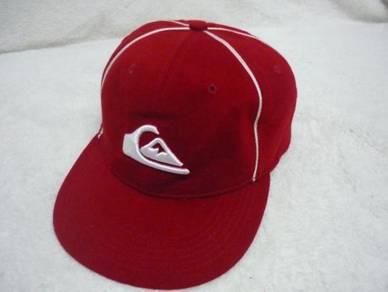 Topi Quicksilver Fullcap Merah Sulam