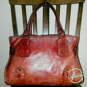 Tote Bag Leather Violet Hanger