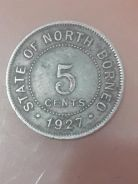 1927 North Borneo (Sabah) 5 cents coin for sale