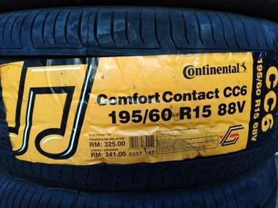 195/60/15 Continental CC6 Tyre Tayar