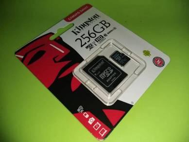 256GB Micro SD Memory Card Kingston Class 10