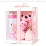 Teddy Bear with Thermos Bottle Gift Box