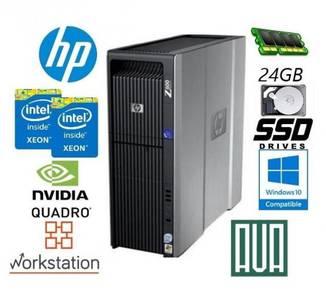 HP Workstation Z600 Xeon x2 8GB AutoCAD 3D Render