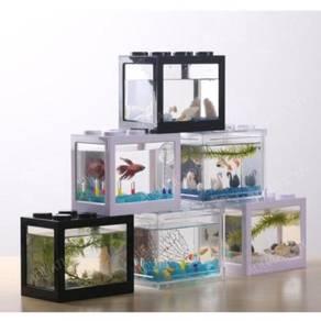 Superposed Mini Aquarium Fishbowl for Rumble Fish