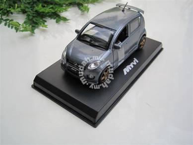 Miniature model Perodua myvi medallion grey