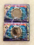 21th SEAGames KL Coin Card 2001