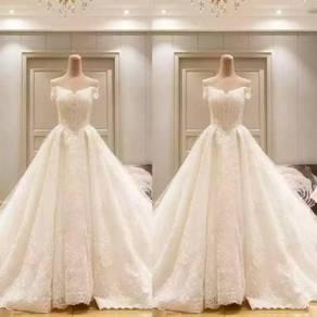 White dinner prom dress wedding bridal gown RB0101