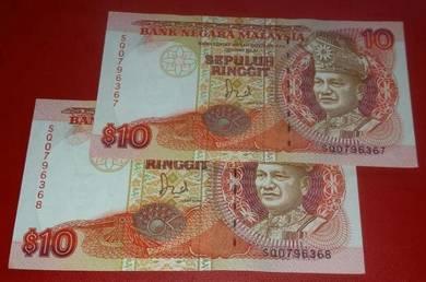 RM10 Jaafar Hussein SQ0796367-68 (2 pcs)