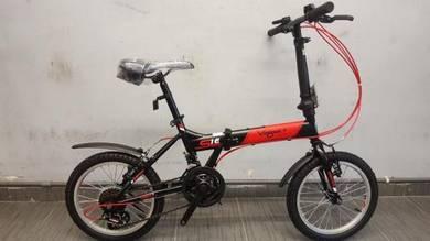 Oscar Bicycle basikal lipat vogue 16er 12sp Red