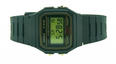 CASIO Digital Vintage Series Rubber Watch F-91WG-9