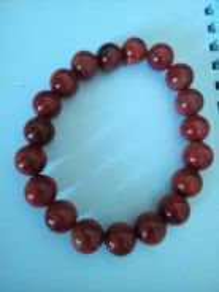 Crystal~Nan Hong Agate Bracelet