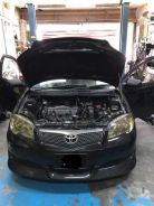 Toyota Vios Car Aircond Service Open Dashboard