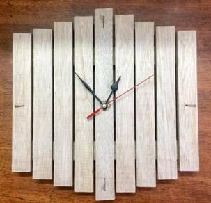 Solid Wood Hand Made Wall Clock 786-003
